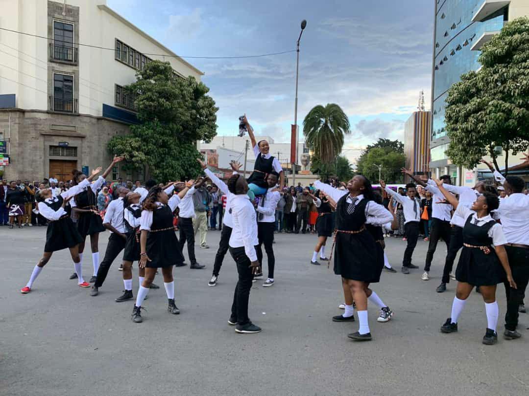 The Sarafina Flash Mob Pulls a Show in Nakuru Kenya