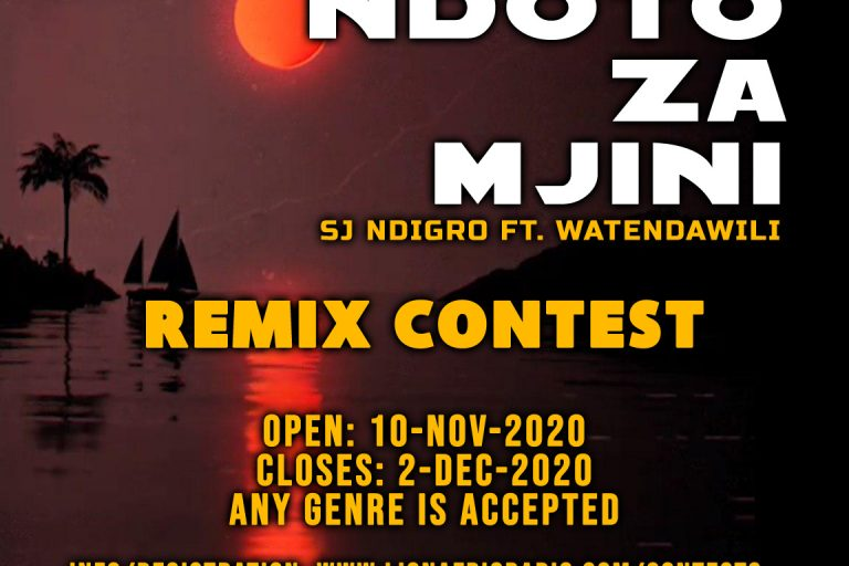 Ndoto Za Mjini Remix Contest: Calling on Submissions. (Ending 2nd Dec 2020)